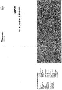 Servicio y Manual del usuario Marconi 6913