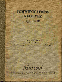 Service and User Manual Marconi CR.100