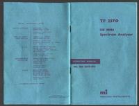 Руководство пользователя Marconi TF 2370