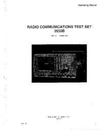 Manual del usuario Marconi 2955B