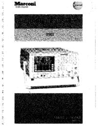 Instrukcja obsługi Marconi 2965