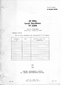 Руководство по техническому обслуживанию Marconi TF 2356