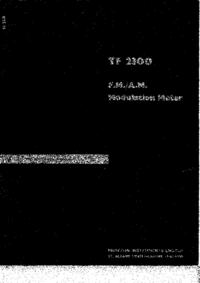 Service-en gebruikershandleiding Marconi TF 2300