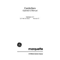 User Manual Marquette CardioServ