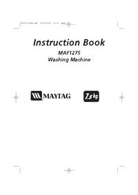 User Manual Maytag MAF1275