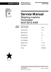 Manual de serviço Maytag MAF 6512 AAW