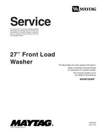 Manuale di servizio Maytag MAH8700AW*