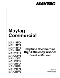 manuel de réparation Maytag MAH20PR
