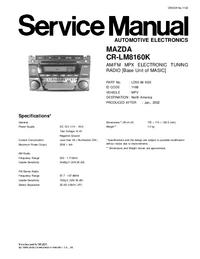 Serviceanleitung Mazda CR-LM8160K