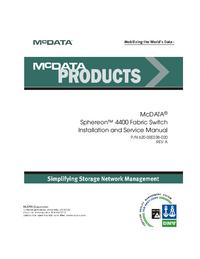 Servizio e manuale utente McData Sphereon 4400