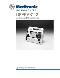 Manuale d'uso Medtronic Lifepak 12