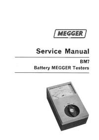 Руководство по техническому обслуживанию Megger BM7-500