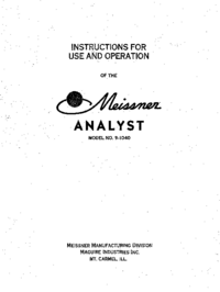 Manual del usuario, Diagrama cirquit Meissner Analyst