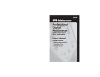 Manual del usuario Meterman 33XR