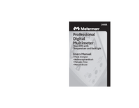 Manuale d'uso Meterman 34XR