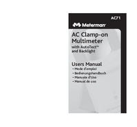 Manual del usuario Meterman AC71