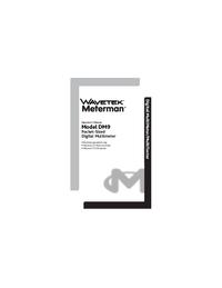 Manuel de l'utilisateur Meterman DM9