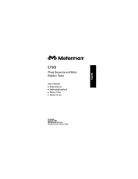 User Manual Meterman EPM3