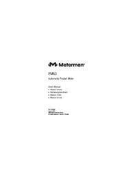 Manuel de l'utilisateur Meterman PM53