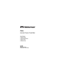 User Manual Meterman PM55