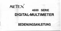 Руководство пользователя Metex 4630