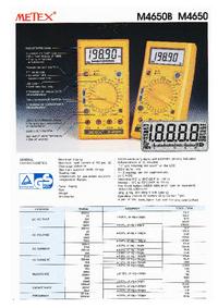 Hoja de datos Metex M4650