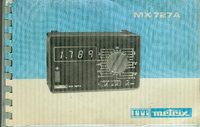 Service and User Manual Metrix MX727A