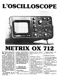 Cirquit Diagramma Metrix OX 712