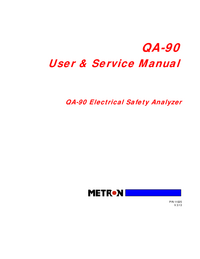 Service and User Manual Metron QA-90