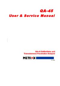 Service and User Manual Metron QA-45