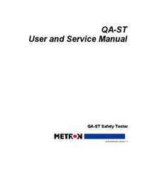 Service et Manuel de l'utilisateur Metron QA-ST