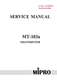 Instrukcja serwisowa MiPRo MT-103a