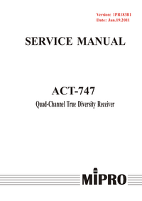 Manual de servicio MiPRo ACT-747