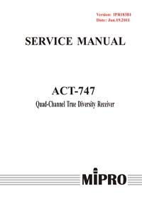 Manuale di servizio MiPRo ACT-747