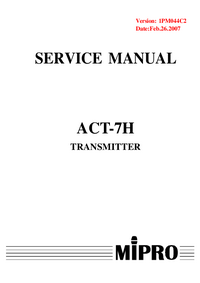 Service Manual MiPRo ACT-7H