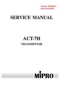 Servicehandboek MiPRo ACT-7H