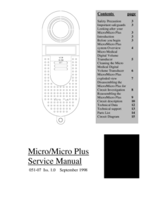 Manual de servicio MicroMedical Micro