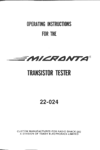 Manual del usuario Micronta 22-024