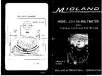 Manuel de l'utilisateur et Schéma cirquit Midland 23-104