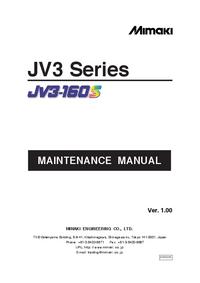 Servicehandboek Mimaki JV3-160S