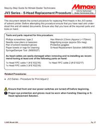 Manuale di servizio Mimaki JV3 Series
