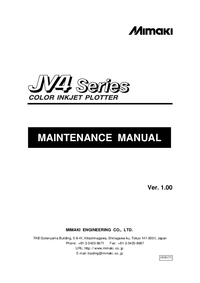 Service Manual Mimaki JV4 Series