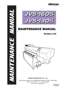 Manual de servicio Mimaki JV5-160S