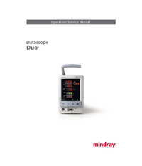 Serwis i User Manual Mindray Datascope Duo