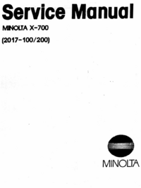 Service Manual Minolta X-700 (2017-200)