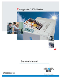 Service Manual Minolta magicolor 2300 Series
