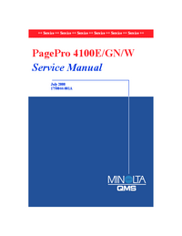 Service Manual MinoltaQMS PagePro 4100W