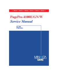 Руководство по техническому обслуживанию MinoltaQMS PagePro 4100E