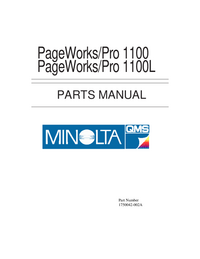 Part List MinoltaQMS PageWorks/Pro 1100L