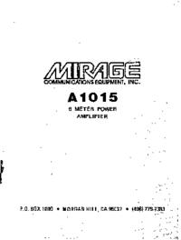 Bedienungsanleitung mit Schaltplan Mirage A1015
